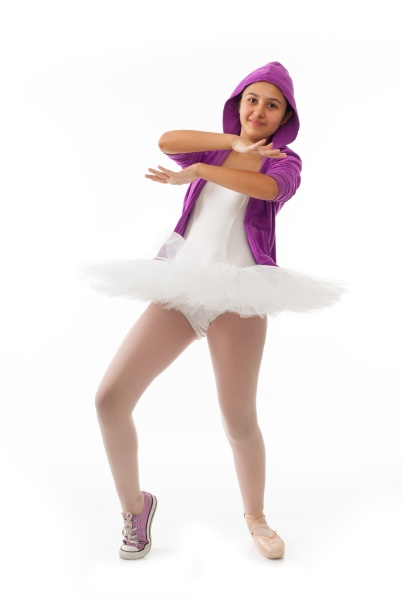 ballerina classical and modern concept of