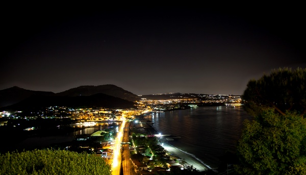 night view of baia bay