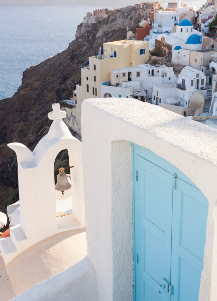 view of the village oia with