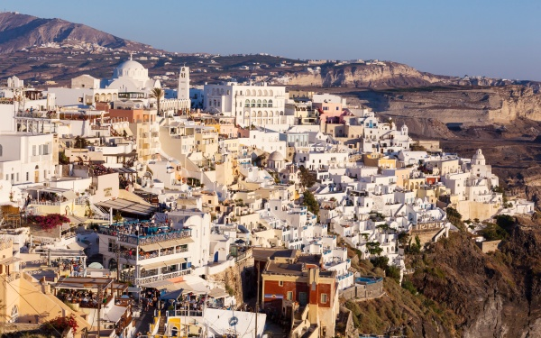 view of fira in the evening