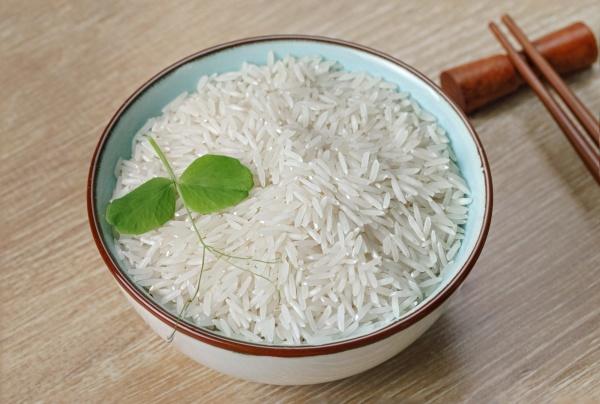 white basmati rice in a bowl
