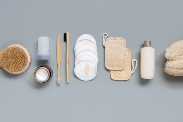 top view of different hygiene and