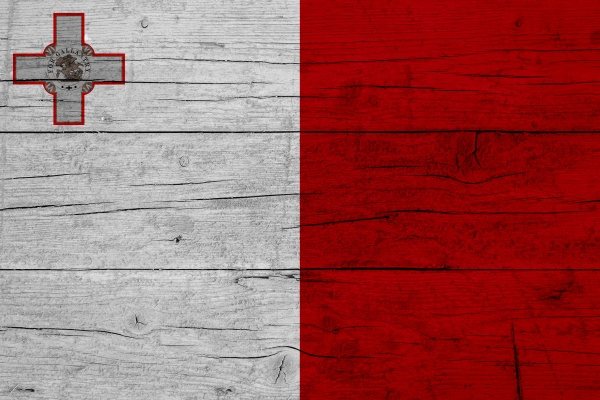 flag of malta wooden texture of