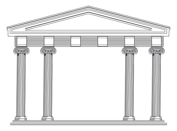 architectural columns greek and roman
