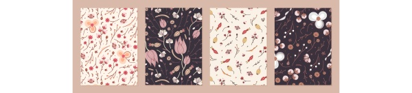 set of cover templates with retro