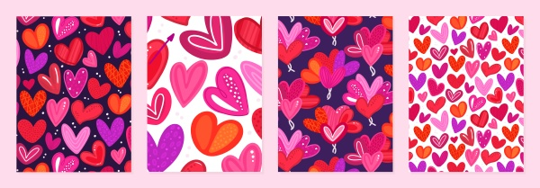 set of cover templates with colorful