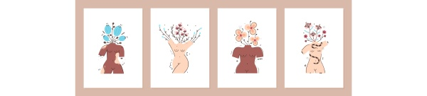 set of cover templates with flowers
