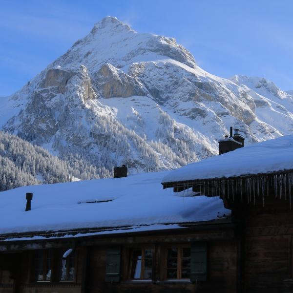 mount spitzhorn seen from gsteig bei