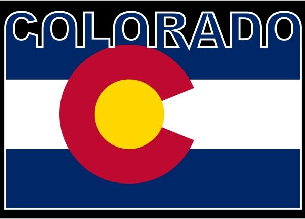 colorado text flag