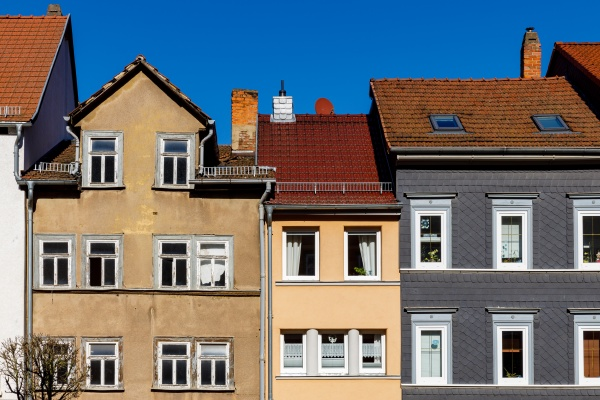 facade of houses in eisenach thuringia