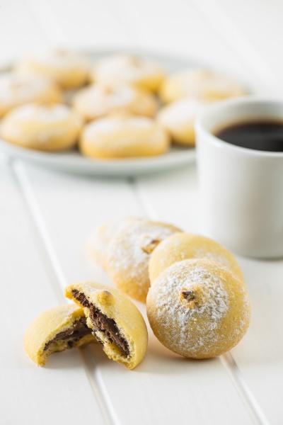 cookies with chocolate cream sweet