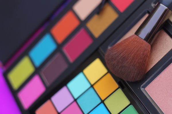 colorful cosmetic pigment palettes