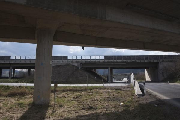 a motorway interchange or junction