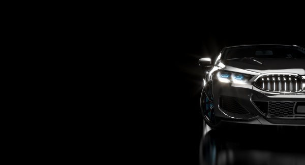 luxurious and stylish modern black car