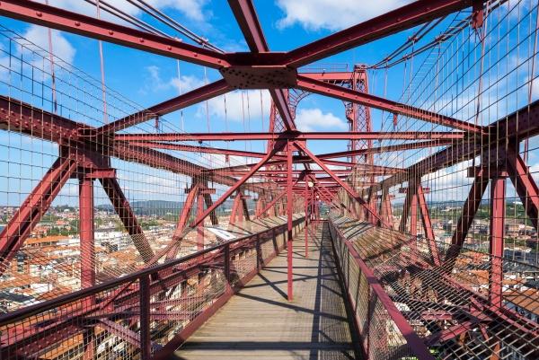 on top of the vizcaya bridge