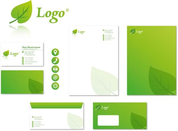 corporate design stationary modern vector logo