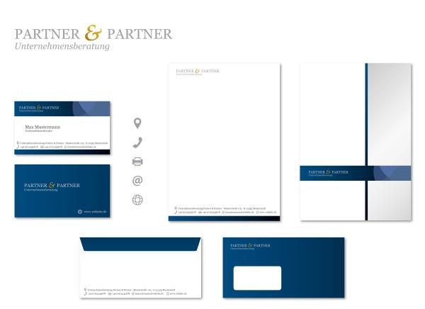 corporate design stationary modern vector set