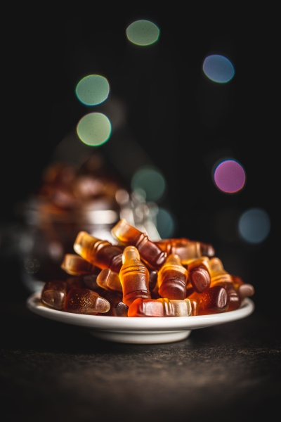 jelly candies with cola flavor