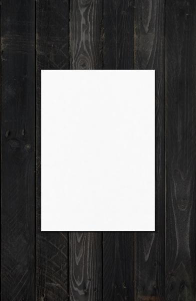 blank white a4 paper sheet mockup
