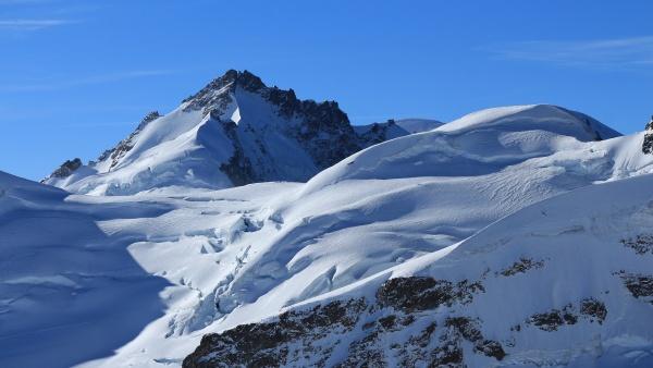 mt gletscherhorn view from the jungfraujoch
