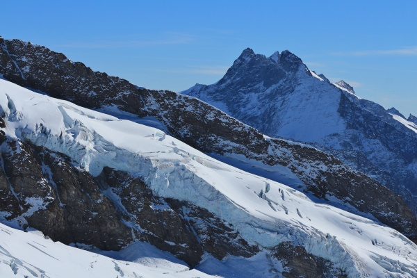 view from the jungfraujoch glacier and