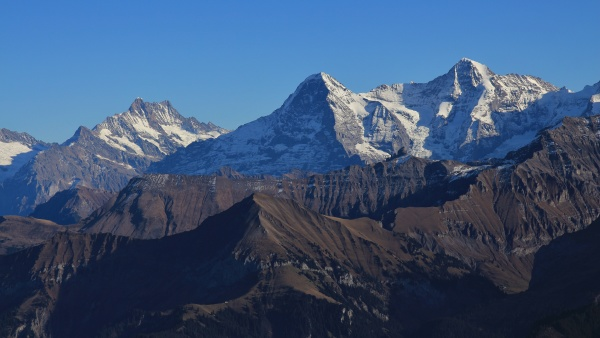 majestic mountains eiger monch and jungfrau