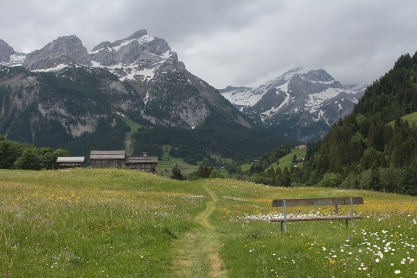 summer rain in the alps
