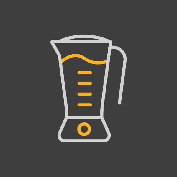 electric blender vector icon kitchen appliance