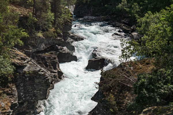 the rauma river in romsdal norway