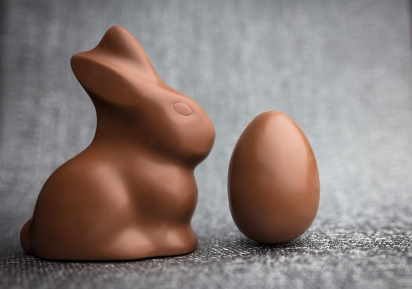 delicious easter chocolate bunny eggs and