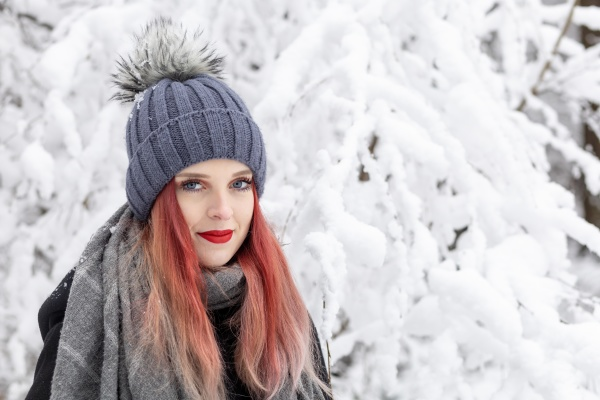 portrait of smiling red hair