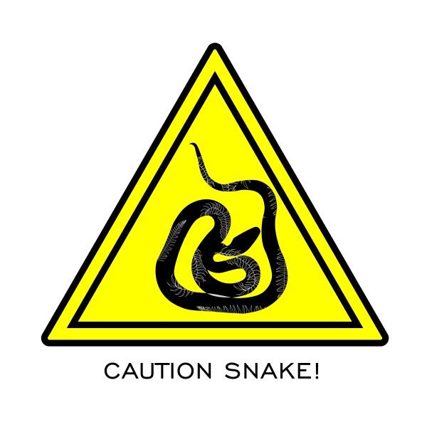warning signs of attention venomous snake