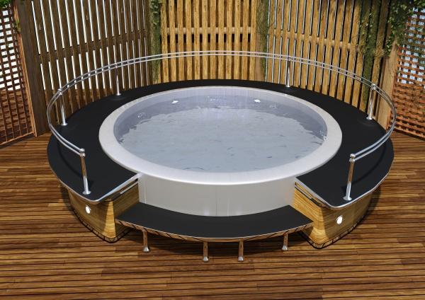 3d rendering hot tub