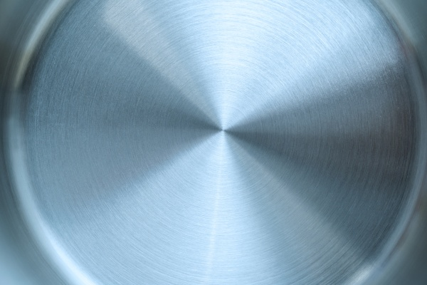 circular metal surface texture of iron