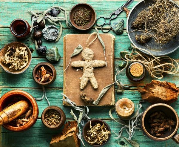 magic voodoo doll for ritual