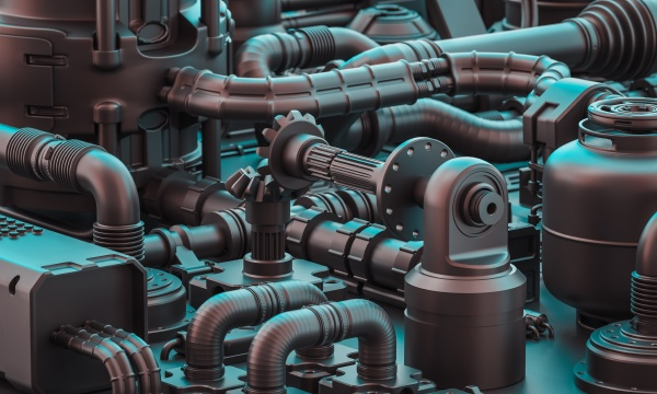 pipes and mechanical parts in sci