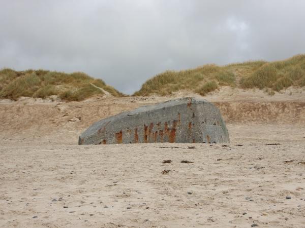 hidden bunker in beach from world
