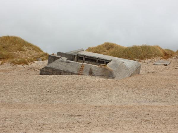 german war bunker at coast of