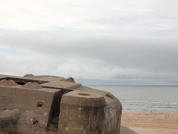 ww2 german bunker with view of