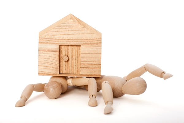 concept mortgage toys nobody puppet house