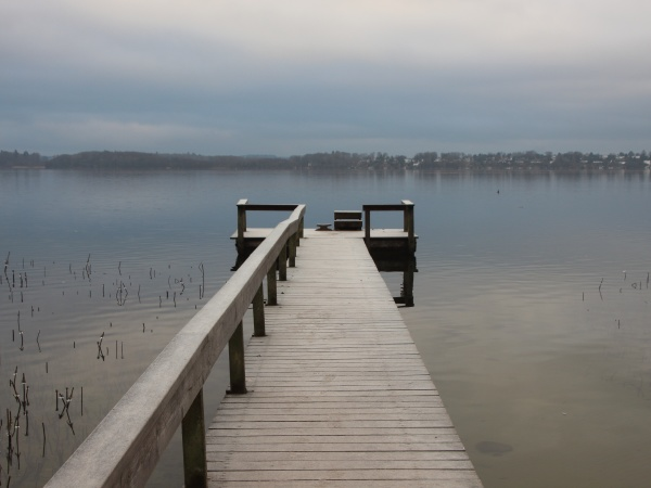 empty, pier, with, wooden, railing, in - 29757054