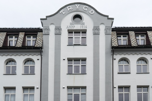 art nouveau facades and ornaments in