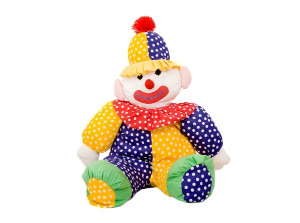 rag clown with colorful clothes
