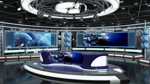 virtual tv studio news set 1