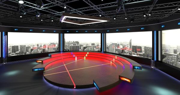 virtual tv studio chat set 2