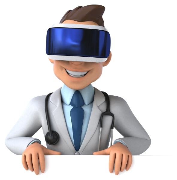fun 3d illustration of a doctor