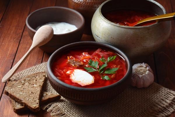 traditional ukrainian russian borscht bowl