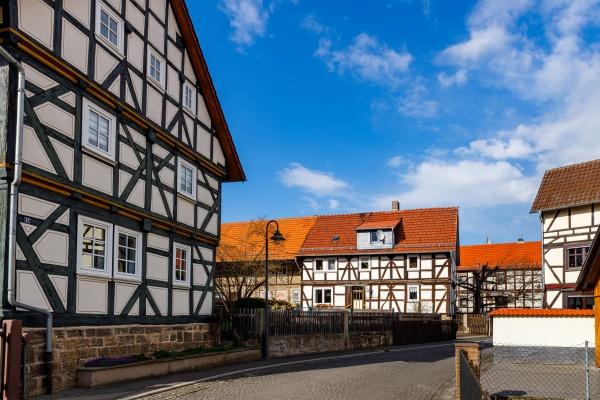 the historic village of herleshausen in