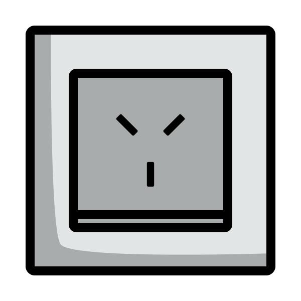 israel electrical socket icon