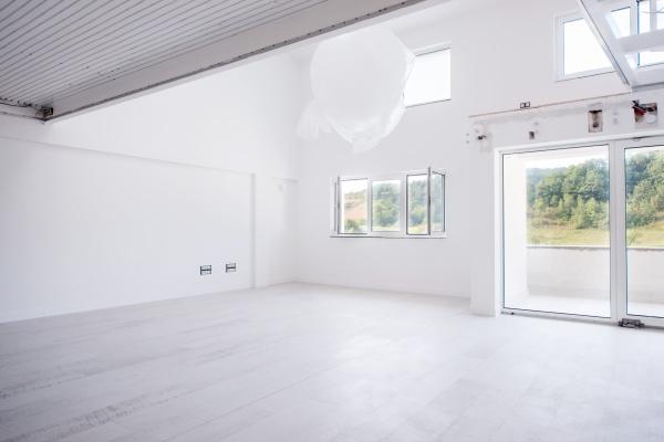 interior of empty stylish modern open